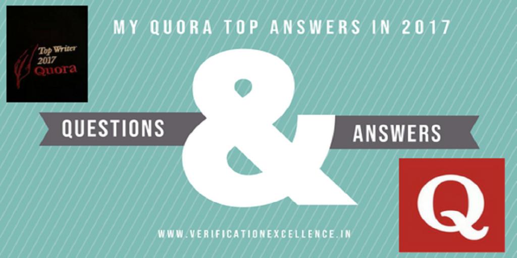 Quora Top answers of 2017 - VLSI career, Verification, ASIC, SOC design
